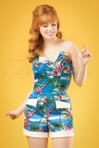 Collectif Clothing Futura Flamingo Island Playsuit 20704 20161125 0009w