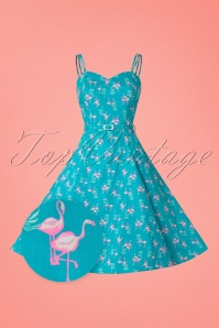 Aida Zack Simona Flamingo Swing Dress 20105 20161125 0017wv