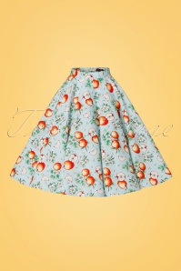 Bunny Somerset 50s Apple Swing Skirt in Blue 122 39 21055 20170406 0001W