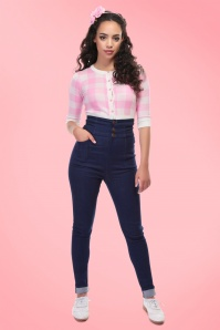Collectif Clothing Nomi Plain High Waisted Jeans 131 31 20651 20170410 1