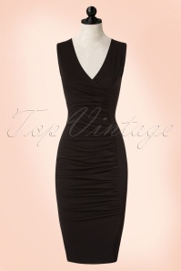 Vintage Chic Scuba Crepe Black Pencil Dress 100 10 20998 20170410 0004pop