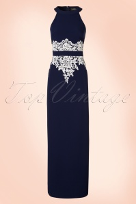 Paper Dolls Navy Cream Lace Maxi Dress 108 31 20557 20170410 0002W