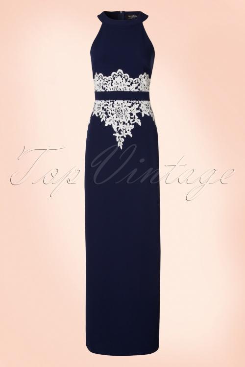 Paper Dolls Navy Cream Lace Maxi Dress 108 31 20557 20170410 0002W