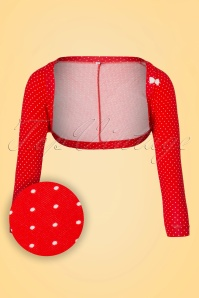 50s Kiss Me Blom Bolero in Ida Madita Red
