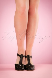 Miss L Fire Daisy Black Sandals 452 10 20560 04052017 006W