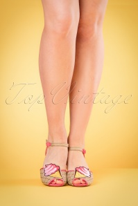 50s Cute Gelato Sandals in Pink