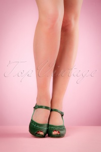 Miss L Fire Bettie Green Sandals 420 40 20110 04052017 007w