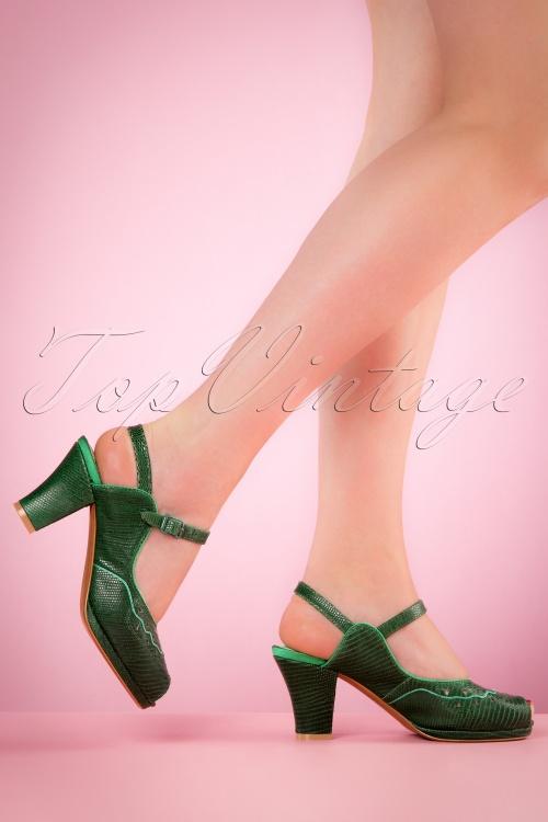 Miss L Fire Bettie Green Sandals 420 40 20110 04052017 004w