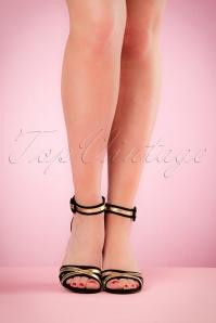 Tamaris Mary Jane Black Gold Sandal 402 10 21023 04052017 006W