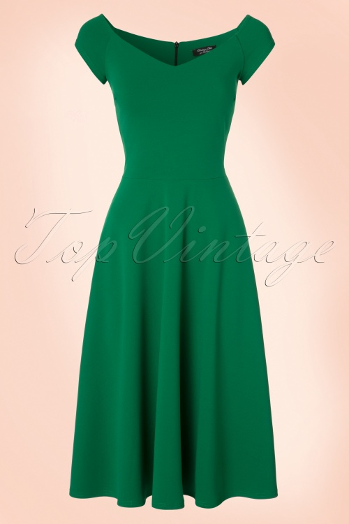 Vintage Chic Green Swing Dress 102 40 21758 20170410 0004W