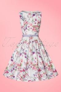 Lindy Bop Audrey Watercolor Floral Dress 102 59 21237 20170411 0002W
