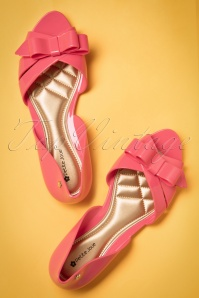 60s Bow Flats in Pink