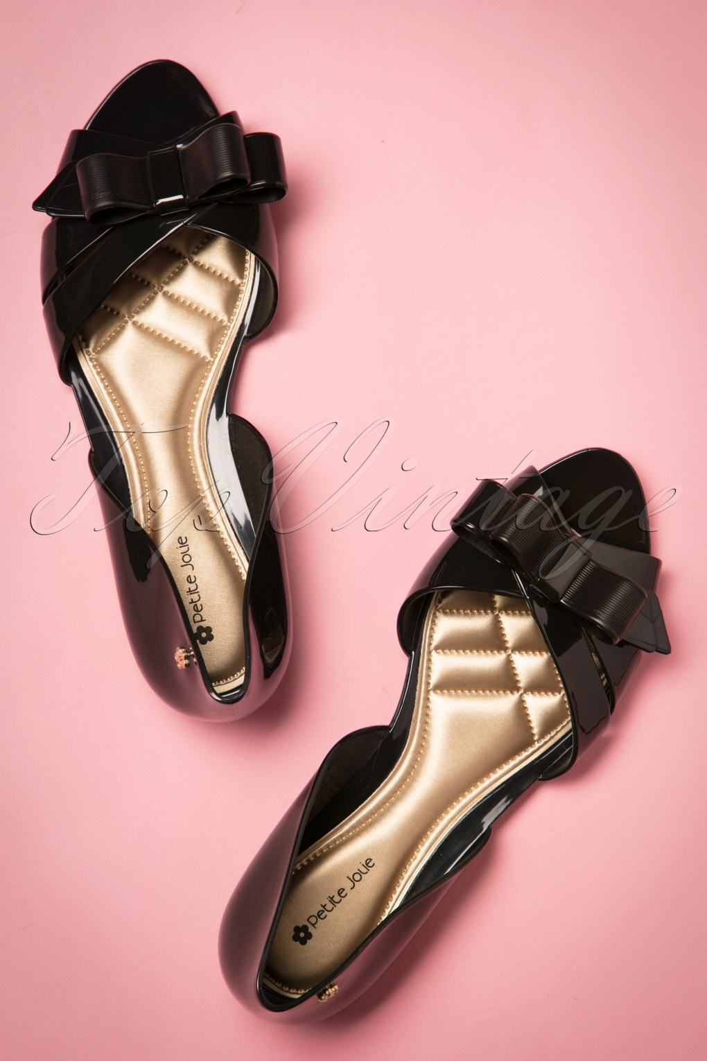 60s Bow Flats in Black
