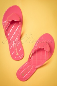 60s Heart Slippers in Pink