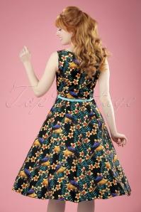 Lady V Hepburn Parrot Swing Dress 102 14 21190 20170403 0014W