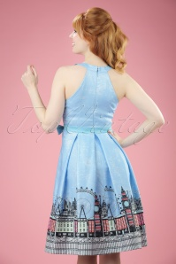 Lindy Bop Cheri Blue Swing Dress 102 39 21230 20170406 00011W