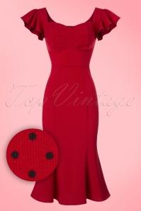 Stop Staring Red Pindot Dress 100 27 20580 20170329 0004wv