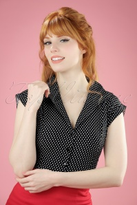 Dancing Days by Banned Lovely Day Black Polkadot Blouse  112 14 20941 20170331 0009W