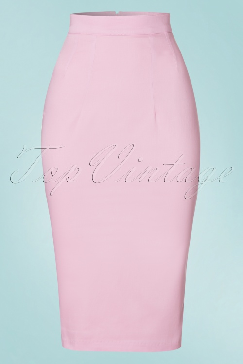 50s vixen pencil skirt in baby pink