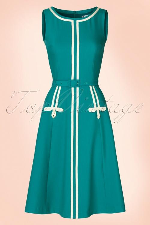Daisy Dapper Iris Dress in Teal 102 30 21135 20170411 0003W