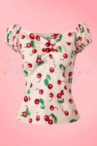 Collectif Cloting Dolores Top Cherry Top 17727 20151117 0005W