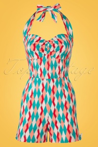 Collectif Clothing Kimmy Atomic Harlequin Playsuit 20707 20161125 0004W