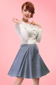 Collectif Clothing Tammy Gingham Skirt in Red 20664 20161129 01