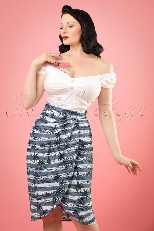 Collectif Clothing Kala Mahiki Sarong Skirt 20657 20161130W