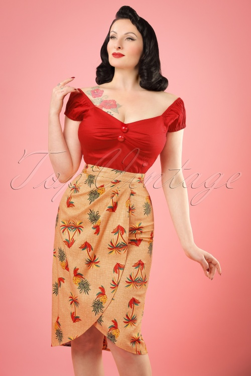 Collectif Clothing Kiala Pineapple & Palm Sarong 20660 20161130 01W