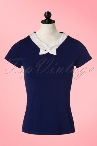 Fever Holywell Top in Navy 111 31 20076 20170329 0002W