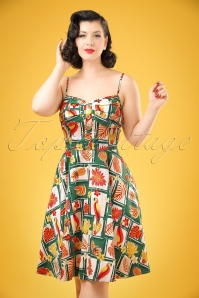 Collectif Clothing Fairy Tropical Bamboo Dress 20701 20121224 1W