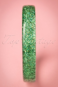 Splendette Pale Green Glitter Bangle 310 40 21150 20170412 0004w