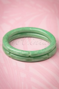 Splendette Pale Green Sheen Bangles 310 40 21142 20170412 0016w