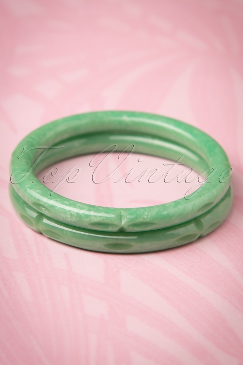 Splendette Pale Green Sheen Bangles 310 40 21142 20170412 0016w