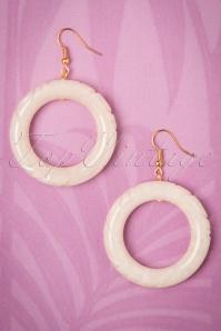 Splendette White Sheen Fakelite Earrings 333 50 21147 20170412 0010w