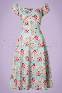 Collectif Clothing Dolores Origamii Floral Doll Dress 20840 20161128 0019W