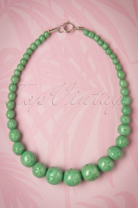 TopVintage Exclusive ~ 20s Luna Carved Pearl Necklace in Pale Green