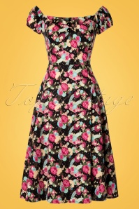 Collectif Clothing Dolores Origami Floral Doll Dress 20839 20161128 0009W