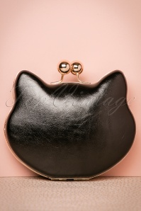 60s Lucy Cat Clutch in Black