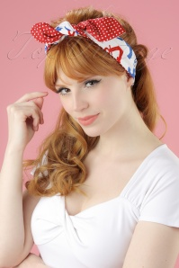 Be Bop A Hairbands Red Polka Anchor 001W