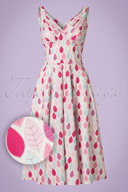 Miss Candyfloss Summer Leaf Swing Dress 102 59 20607 20170414 0012W1
