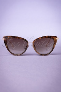 Collectif Turtoiseshell and Gold Dita Cats Eye Sunglasses 260 79 20352 20170414 0016w
