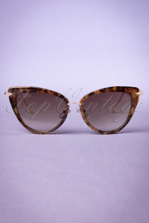088ff5c32e8 Collectif Turtoiseshell and Gold Dita Cats Eye Sunglasses 260 79 20352  20170414 0016w