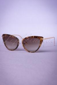 Collectif Turtoiseshell and Gold Dita Cats Eye Sunglasses 260 79 20352 20170414 0008w