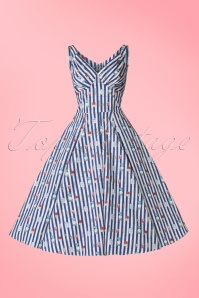 Miss Candyfloss Bake Print Striped Swing Dress 102 39 20610 20170414 0006W