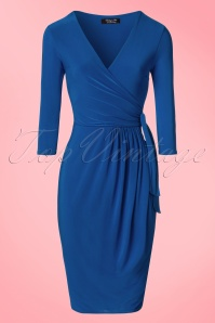 Vintage Chic Side Tie Wrap Dress 100 20 21757 20170223 0002W