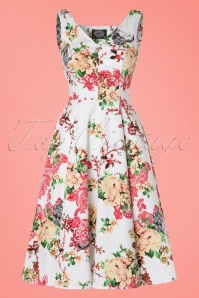 Hearts and Roses White Floral Swing Dress 102 59 21728 20170418 0010W