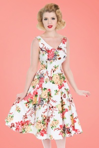 Hearts and Roses White Floral Swing Dress 102 59 21728 20170418 01