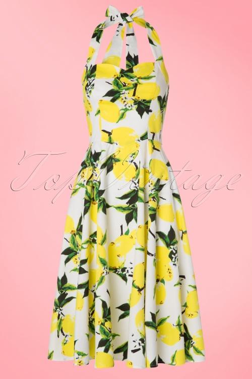 Hearts and Roses White Lemon Swing Dress 102 59 19990 20170418 0014W
