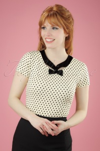 Fever Holywell Polkadots Top in Cream 111 57 20077 20170329 0002W